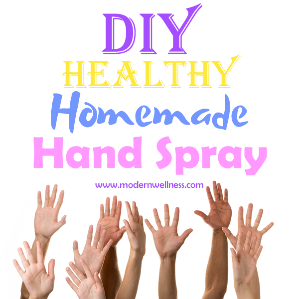 DIY Homemade Healthy Hand Spray